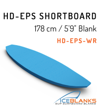 "HD-EPS SHORTBOARD Blank 5'-9"""