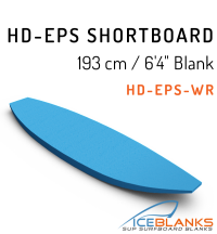"HD-EPS SHORTBOARD Blank 6'-4"""